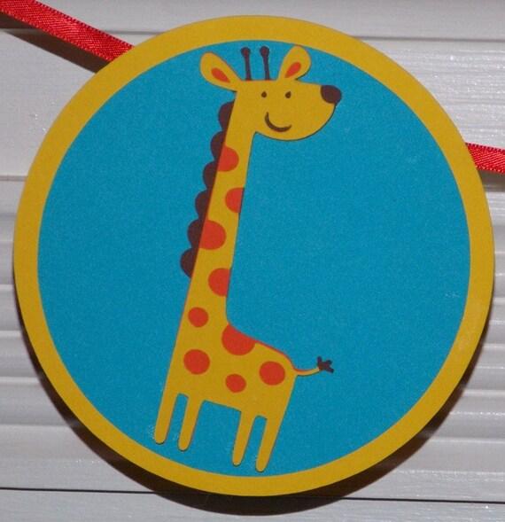 "Safari Friends ""I am 1""  Birthday  Banner ... Jungle1st Birthday ... Monkey Giraffe Zebra ... yellow green red blue purple READY TO SHIP"