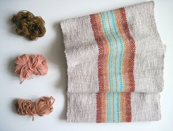 Handwoven 'Canyon' Scarf featuring Cotton and Multi-Öko fibers