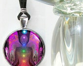 Chakra Jewelry Angel Necklace Reiki Energy Art Pendant Necklace