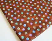 Brown Retro Floral Fabric, The Potting Shed of Georgia Fabric, OOP