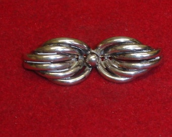 "Antique Victorian Aesthetic ""Bow"" Pin Brooch 830 Silver"
