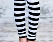 Leg Warmers - Black & White Stripes