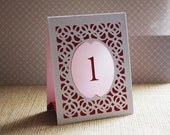 Wedding Table Numbers, Table Number Luminaries, Wedding Table Markers, Table Markers, Table Cards - BRIDGE Style B