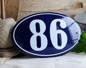 """Enamel House Number Oval 4.7"""" x 7.5"""""""