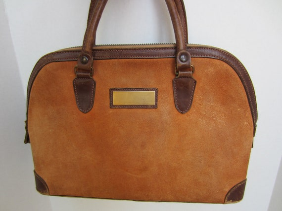 Jana Made in Italy - Vintage Suede & Leather Satchel