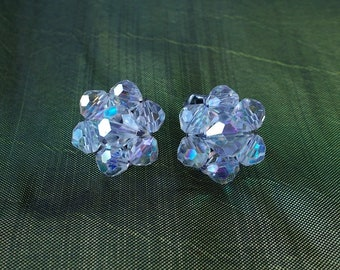 Vintage Round Clip On Earrings.