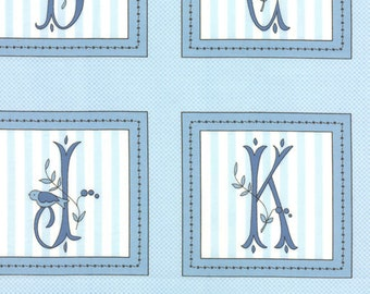 Windsor Lane - ABC Panel in Porcelain Sky by Bunny Hill Designs for Moda Fabrics