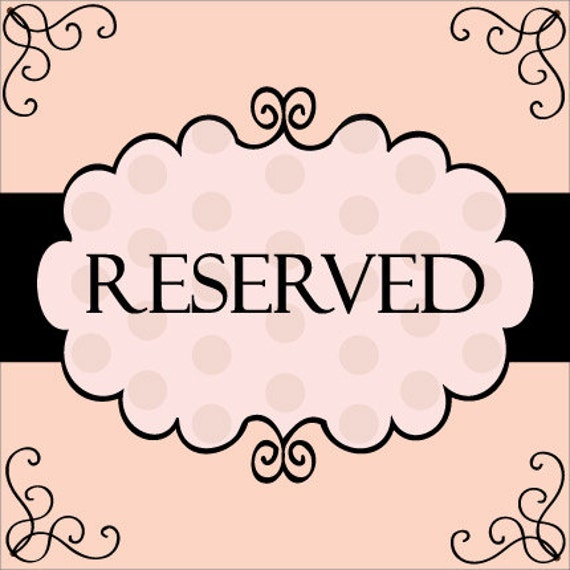 Reserved Listing for Sherry