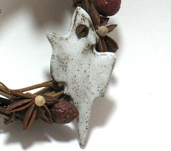 Winter Icicle Pendant - Ceramic Focal Pendant (OOAK Clay Pendant)