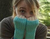 Seafoam Crochet Fingerless Gloves