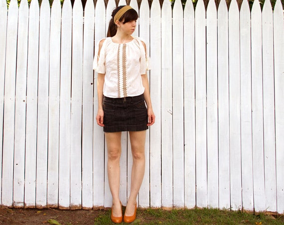 Vintage Pesant Top - Small
