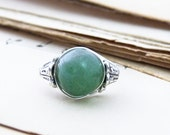 Wire Wrapped Green Aventurine Ring