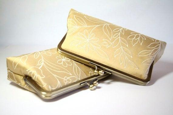 Bridesmaid Gift, Wild Flowers Silk Clutch,  Wedding clutch, Wedding purse, Bridesmaid clutch, Wedding bag, Bridal clutch