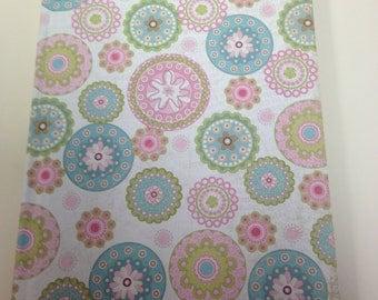Pink & Blue Spirograph  Ruled  Journal