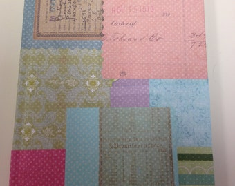 Pastel Patchwork  Ruled  Journal