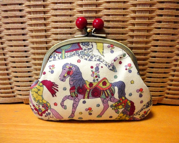 Liberty horse floral clasp purse