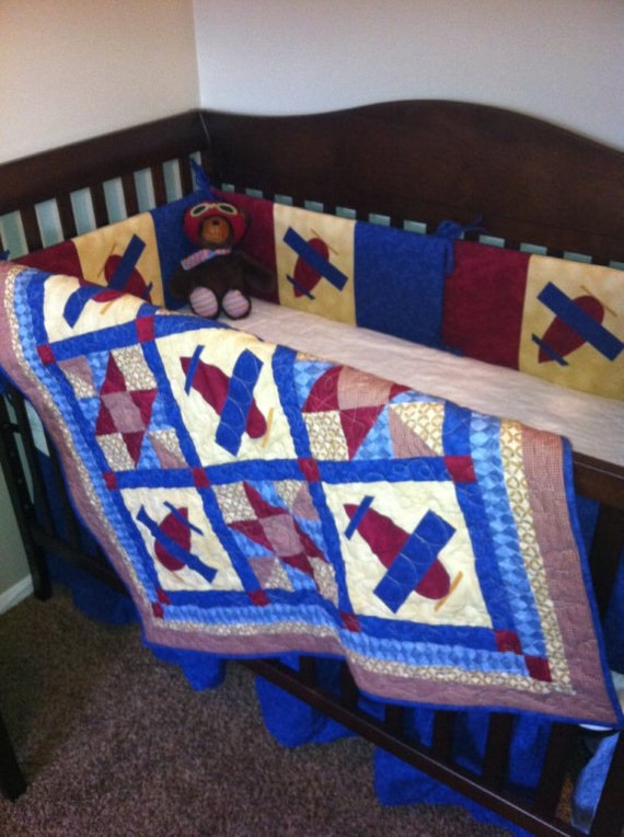 Airplane Baby Quilt Pattern Pdf Boy Or Girl Throw Quilt
