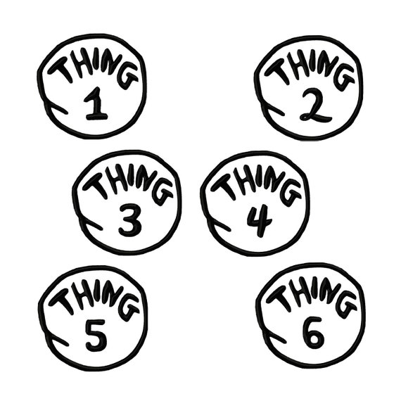 photo about Thing 1 and Thing 2 Printable Template referred to as Detail 1 And Matter 2 Printable Template - Automobile Electric powered
