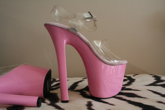 Barbie pink stripper heels size 5 platform stiletto by LaSophia