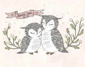 Lovey You - 5x7 Print