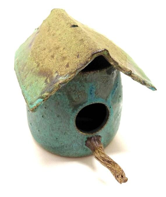 Stoneware Pottery Birdhouse