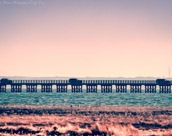 POWDER POINT Bridge, DUXBURY, Massachusetts, Coastal Beach Marine Decor, Massachusetts Print Travel Photography
