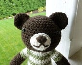 James the Bear Crocheted Sweater Toy