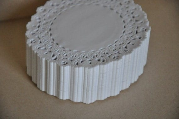 50 Normandy Lace Paper Doilies 4 Inch