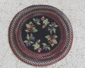 Miniature Braided Look Round Rug in One Twelfth Scale