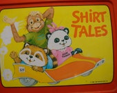Shirt Tales Lunch Box 1980s Cartoon Gang of fuzzy cute animals Perfect for starting school with