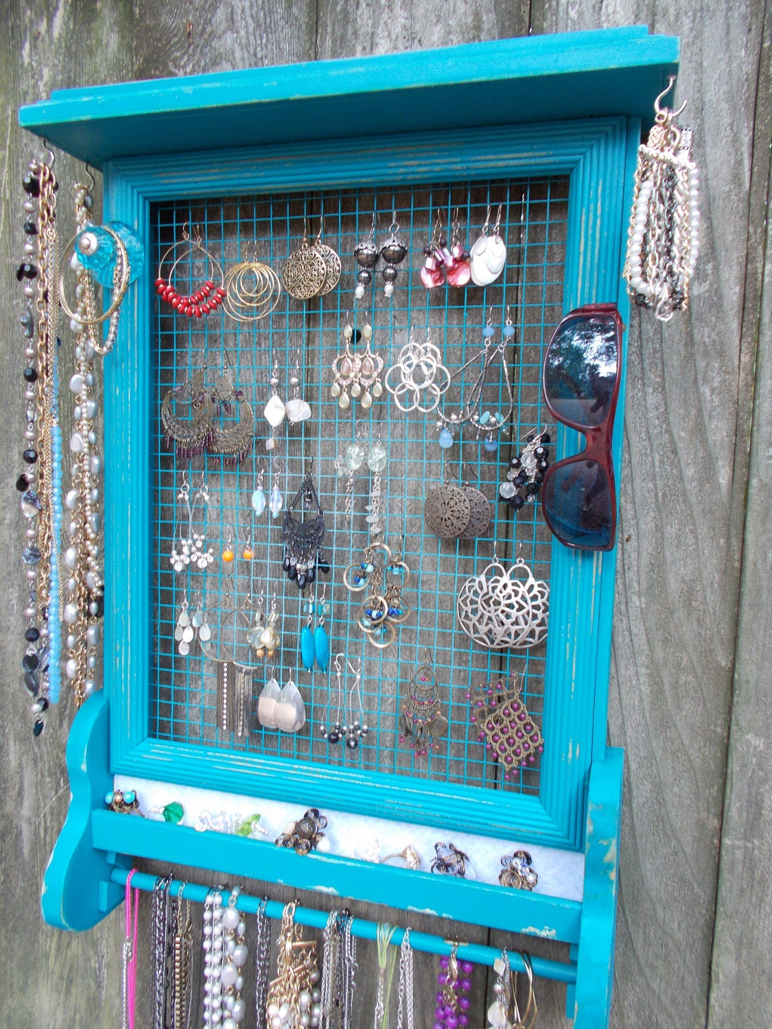 Jewelry Organizer Wall Hanging By Southernwoodsstyle On Etsy