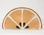 Side Table - Mid Century, Modern, Orange, Folk Art