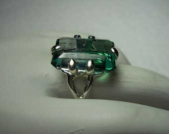 Blue/ Green Ametrine Gemstone Ring