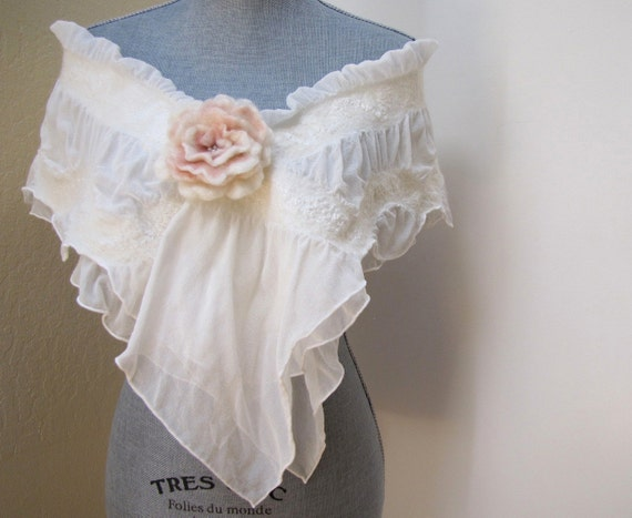 Ivory Shawl Wrap - Bridal Shrug Bolero - Bridal Accessories - Weddings