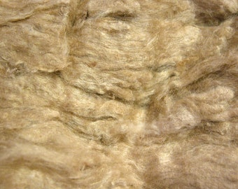 100% Muga silk noil fiber 1oz (28g)