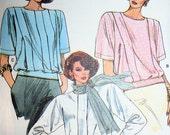 Vintage Vogue Blouson Blouse Sewing Pattern 9499 Size 14 Bust 36