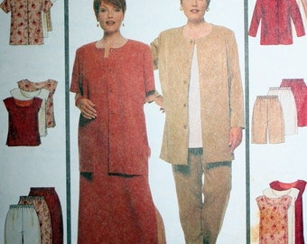 Womens Easy Endless Options Sewing Pattern McCalls 9222 Size 18W, 20W and 22W Bust 40, 42 and 44 Uncut