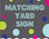 Printable Yard Welcome Sign to Match any Invitation Design from OhCreativeOne, 18x24 DIY digital file