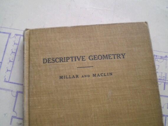 Descriptive Geometry - 1913 - by Millar & Maclin