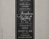 Rehearsal Dinner Invitation - Vintage Chalkboard 1