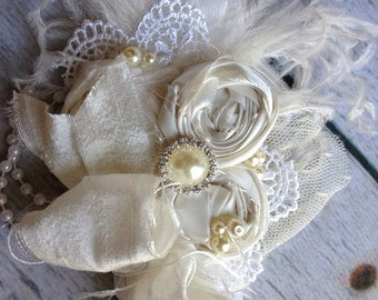 VINTAGE BLESSING baby headband baptism by Cozette Couture