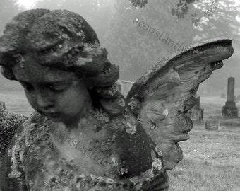 Sunday Mourning - original Black & White Cemetery Photography