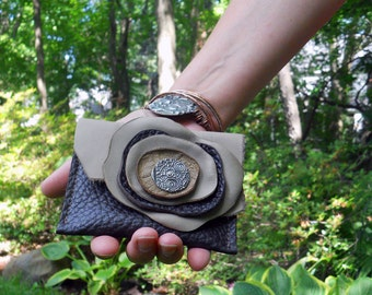 Leather change purse- Change purse - Business card holder - Small Wallet