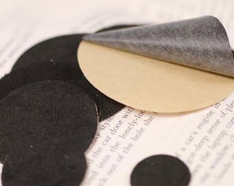 10PCS 60mm(2 3/8'') Black Suede Kraft Circle for  Flower or Corsage Professional Finished.