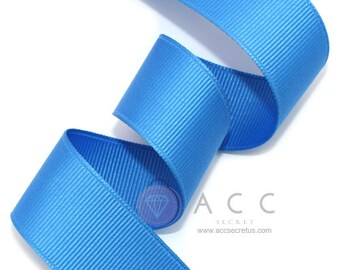 Blue Grosgrain Ribbon - 5mm(2/8''), 10mm(3/8''), 15mm(5/8''), 25mm(1''), and 40mm(1 1/2'')