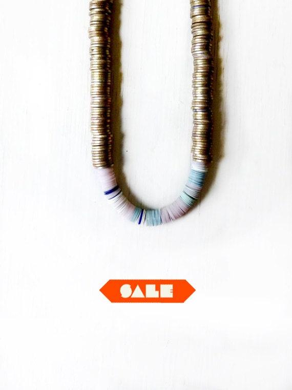 SALE disc necklace