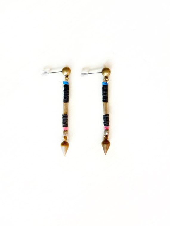 Color block post earrings