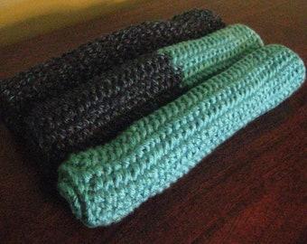 Loom Knitted Washcloth Trio