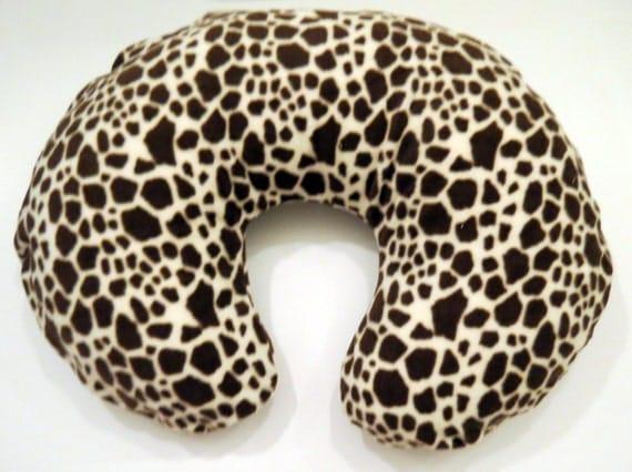 Boppy Nursing Pillow Cover: Giraffe Wild Animal Print