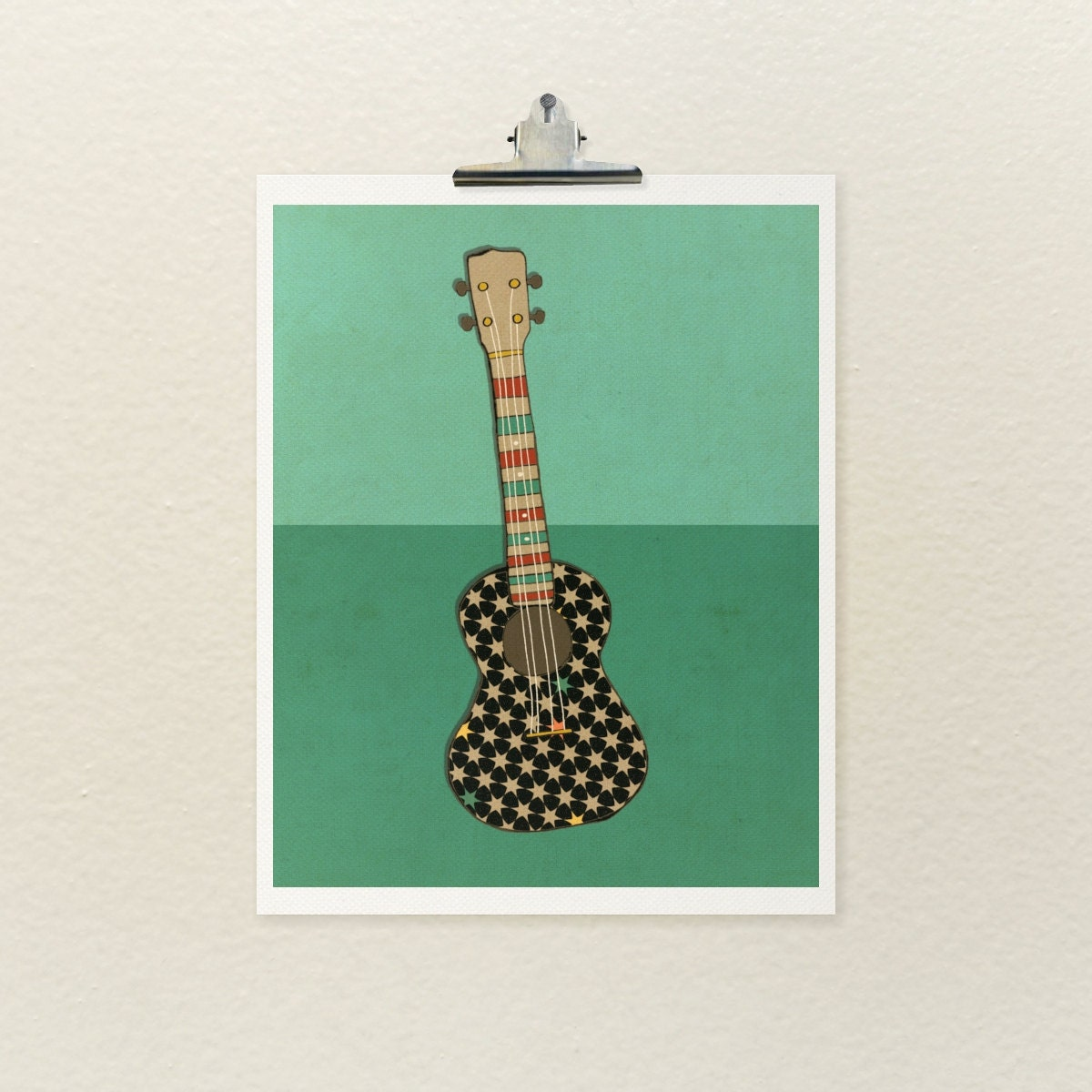Home decor wall art music poster righteous uke series for Decoration ukulele